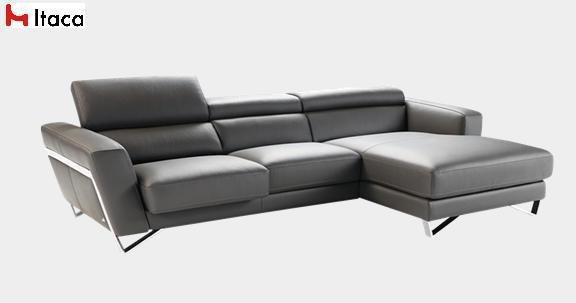 canape d 39 angle 306 172cm itaca de nicoletti cuir vachette. Black Bedroom Furniture Sets. Home Design Ideas