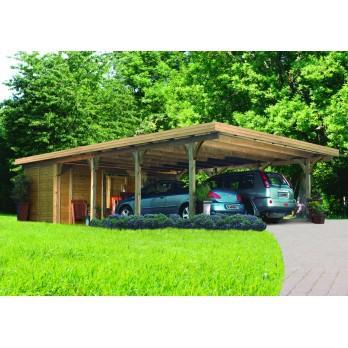 carport pour 2 voitures bois. Black Bedroom Furniture Sets. Home Design Ideas