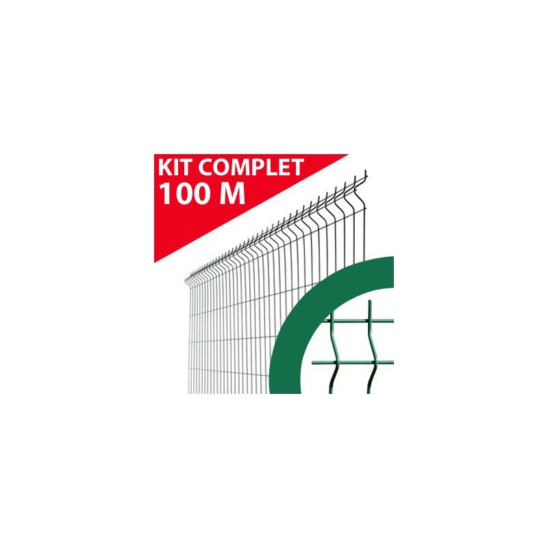 KIT GRILLAGE RIGIDE VERT 100M - JARDIMALIN - FIL 4MM - 1,53 MÈTRE - CLOTURE & JARDIN