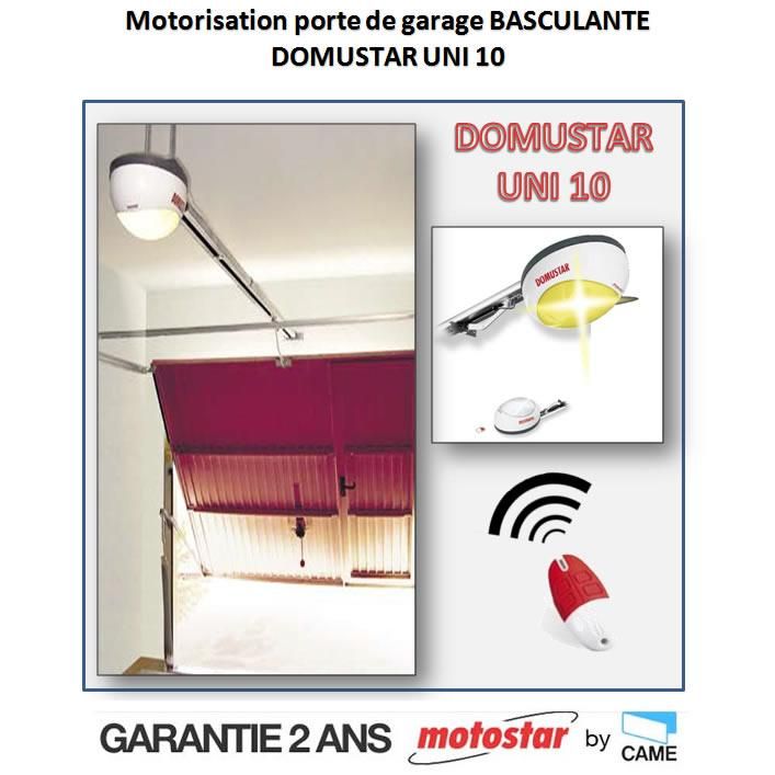 Motorisation porte garage basculante for Verin pour porte de garage basculante