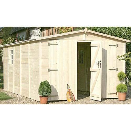 garage en bois chalet jardin achat vente de garage en bois chalet jardin comparez les. Black Bedroom Furniture Sets. Home Design Ideas