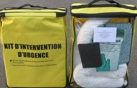 Kit d'intervention d'urgence - absorbants hydrocarbure 22 l