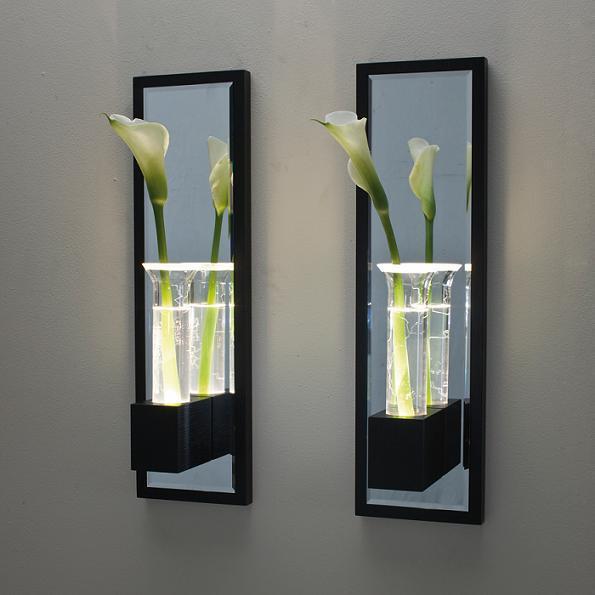 lala applique soliflore led weng verre h60cm applique contardi design par st phanie du. Black Bedroom Furniture Sets. Home Design Ideas