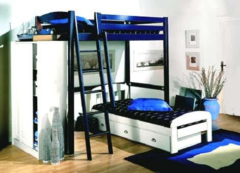 lit mezzanine vivre. Black Bedroom Furniture Sets. Home Design Ideas