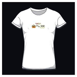 T-shirt femme love corn col rond