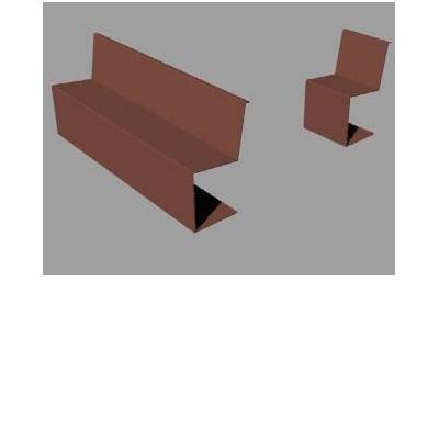 banc acier corten avec dossier bancakao. Black Bedroom Furniture Sets. Home Design Ideas