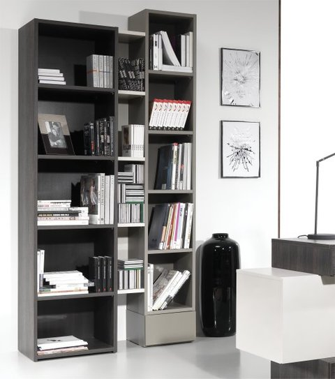 Meuble bibliotheque design hifi a for Meuble bibliotheque design