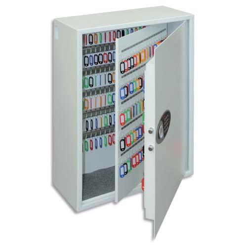 Phoenix armoire blanche haute s curit capacit 300 cl s serrure lectronique l58 x h75 5 x - Armoire a cles grande capacite ...