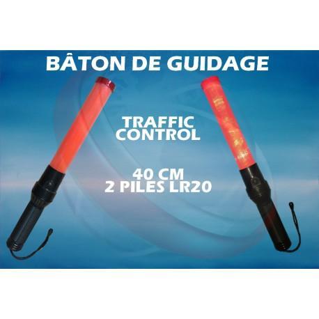 Bâton lumineux traffic control 40 cm pour guidage routier / avion