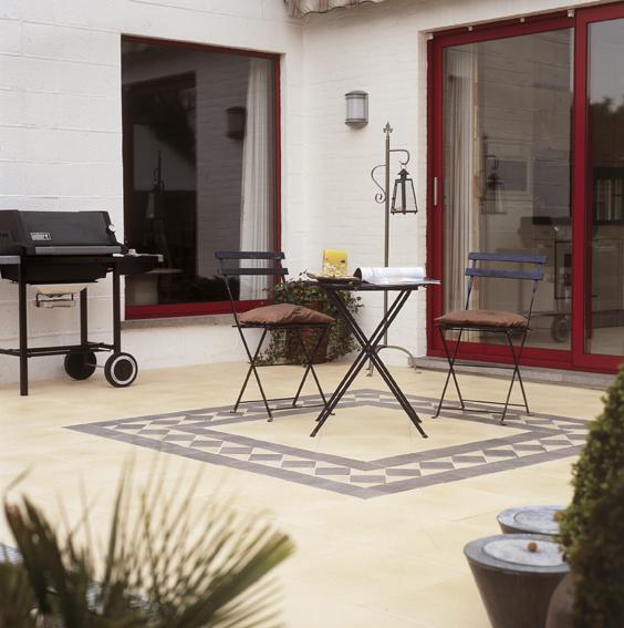 dalles de terrasse enduites de grande classe. Black Bedroom Furniture Sets. Home Design Ideas