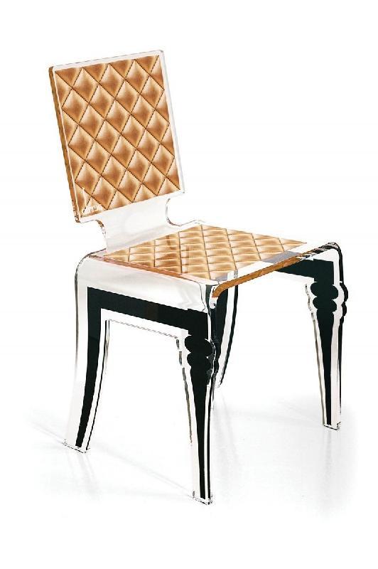 diam chaise design en plexi or par acrila. Black Bedroom Furniture Sets. Home Design Ideas
