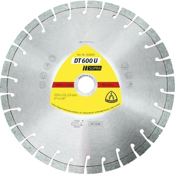 Dt 600 u supra - disques à tronçonner diamantés - klingspor