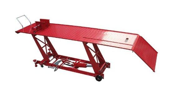 Table de levage extra longue pour motos 220+55cm Plateforme /él/évatrice maxi 450kg Pont /él/évateur
