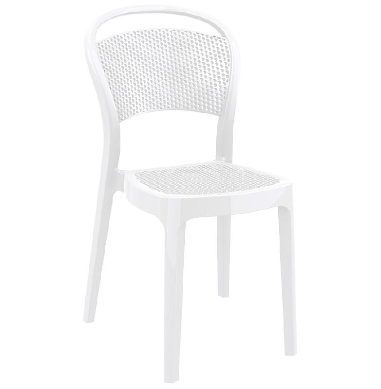 Chaise design 39 storm 39 blanche en mati re plastique for Chaise blanche plastique