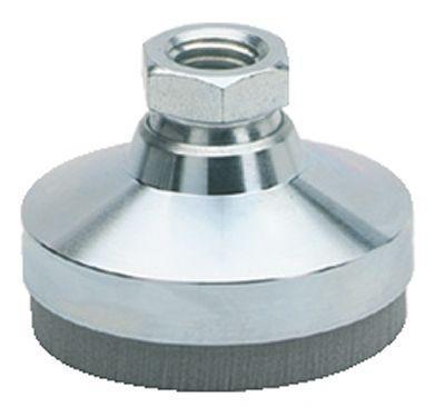 Pied a rotule acier avec patin antivibratoire taraude - Patin anti vibration ...