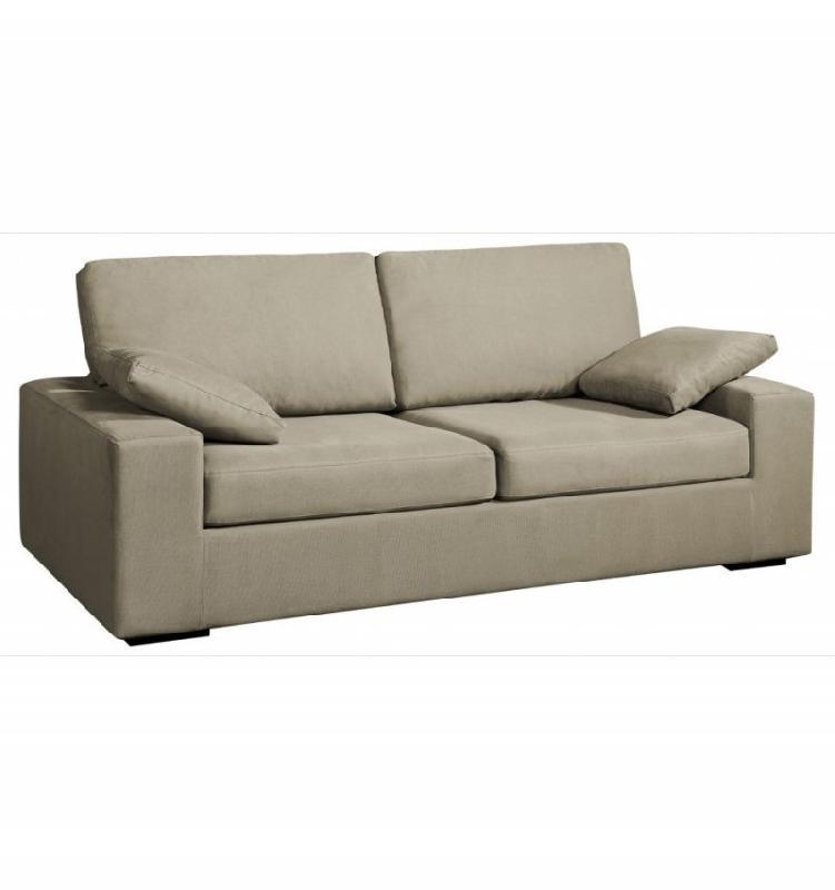 canap fixe neptune 2 places tissu microfibre greige comparer les prix de canap fixe neptune 2. Black Bedroom Furniture Sets. Home Design Ideas