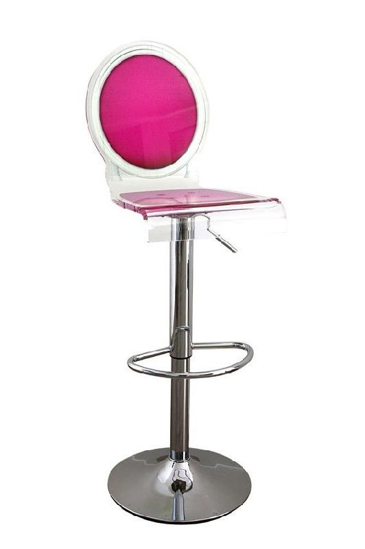 tabouret chaise de bar sixteen rose plexiglass acrila. Black Bedroom Furniture Sets. Home Design Ideas