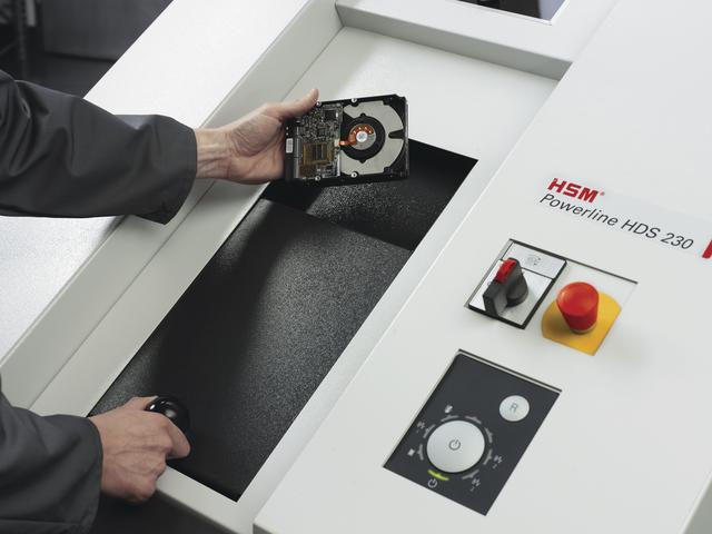 Destructeur de disque dur hsm powerline hds 230 - 11,5 x 26 mm (deux vitesses)