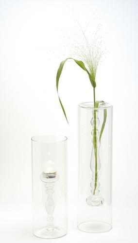 Three Droplet Hanging Glass Vase Chandelier [EL-41011C] - $155