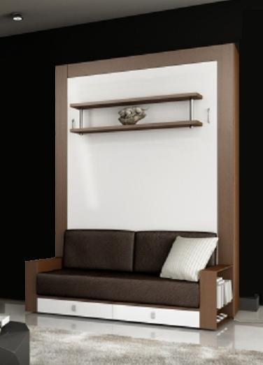 armoire lit avec canape squadra couchage 140cm tiroirs. Black Bedroom Furniture Sets. Home Design Ideas
