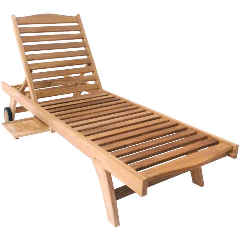 Chaise longue charles bentley achat vente de chaise - Bain de soleil en teck ...