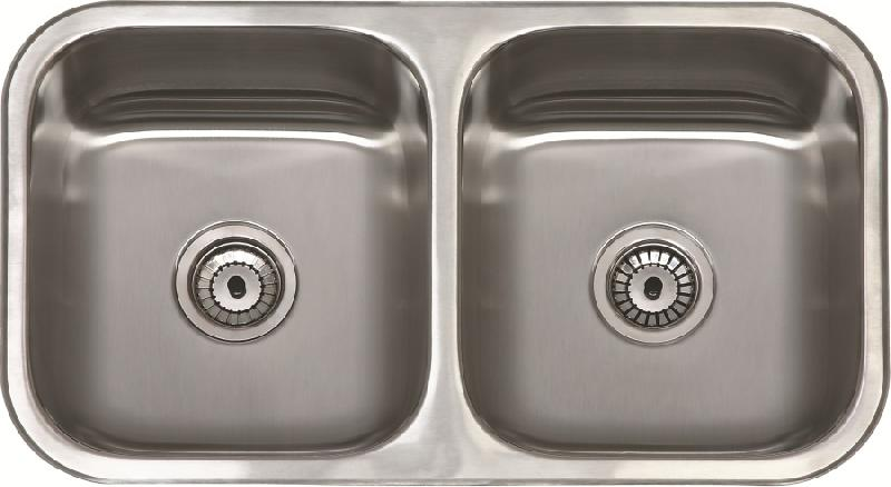 Sanizeo evier double cuve inox sous plan apolo for Evier double inox