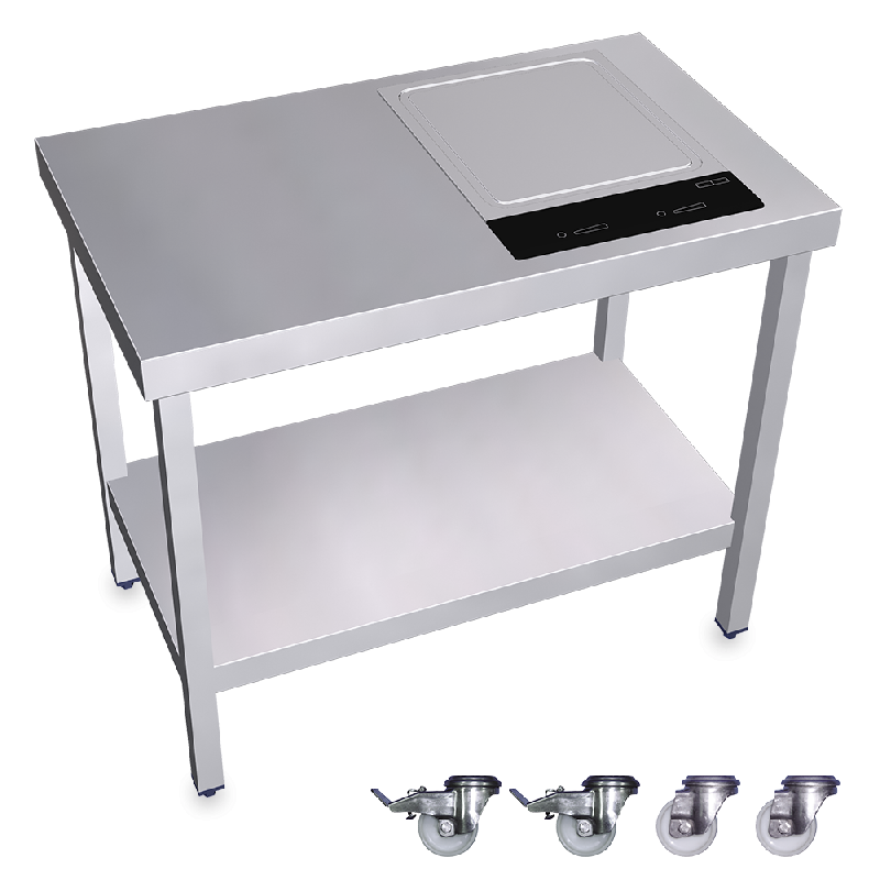 Cuisin re inox professionnelle portable teppan yaki for Mobilier inox cuisine professionnelle