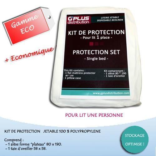 """KIT DE PROTECTION POUR LIT 1 PLACE GAMME """"ECO"""""""