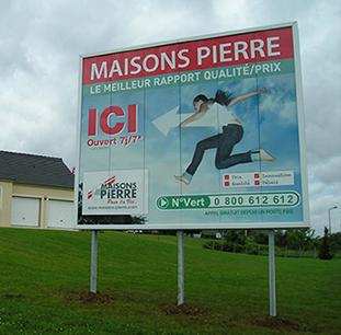 Prix panneau publicitaire bord de route sanotint light for Panneau enseigne exterieur
