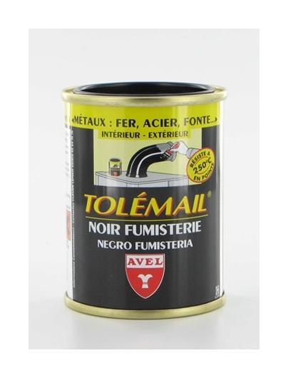 PEINTURE TOLEMAIL NOIR FUMISTERIE HAUTE TEMPÉRATURE, 250 ML NOIR