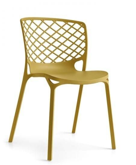 Calligaris chaise empilable gamera jaune moutarde comparer for Chaise jaune moutarde
