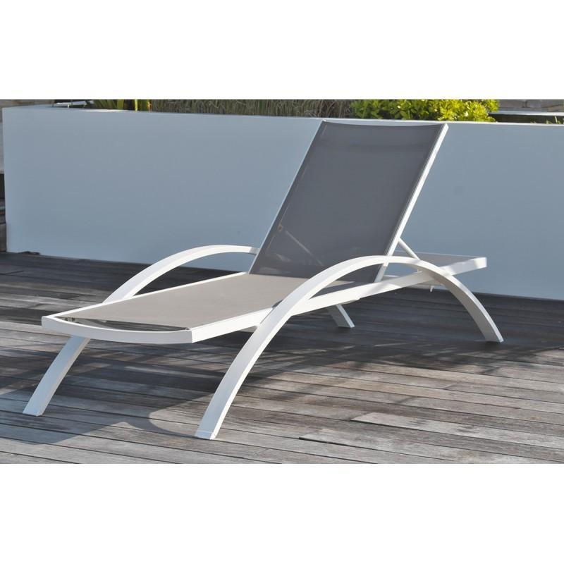 Chaise longue dcb garden achat vente de chaise longue for Chaise longue textilene alu