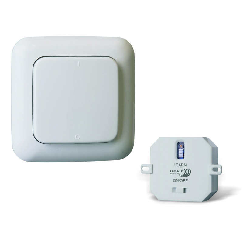 Kit home easy he805s interrupteur sans fil module on off for Interrupteur sans fil exterieur