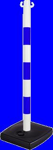 Poteau PVC Bleu/Blanc sur socle à lester 4kg - 2002004