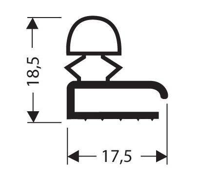 joint pvc plat sans aimant pour meubles frigos jpf 005. Black Bedroom Furniture Sets. Home Design Ideas