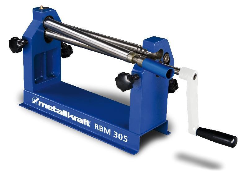 Rouleuse de tôles manuelle d'établi 3 rouleaux 305 mm metallkraft rbm305