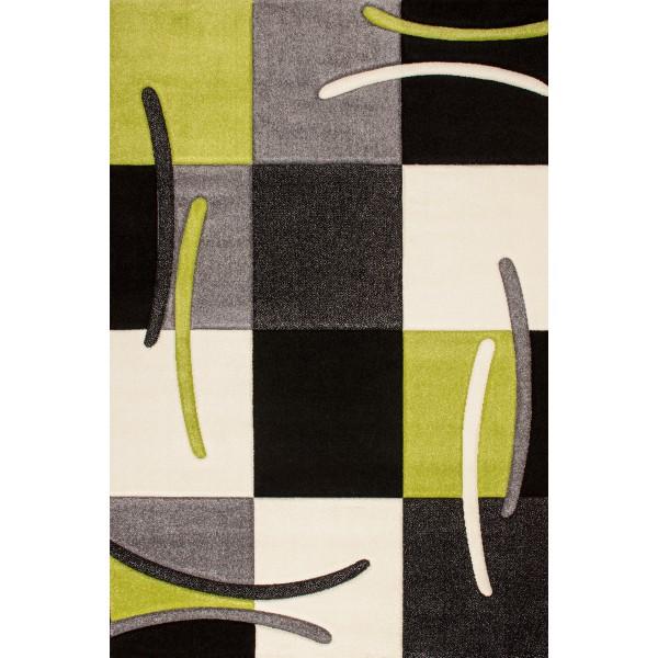 Beautiful Tapis Moderne Art Blanc Noir Vert With Tapis De Salon Vert