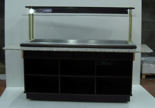 buffet bain marie avec dessus en marbre. Black Bedroom Furniture Sets. Home Design Ideas
