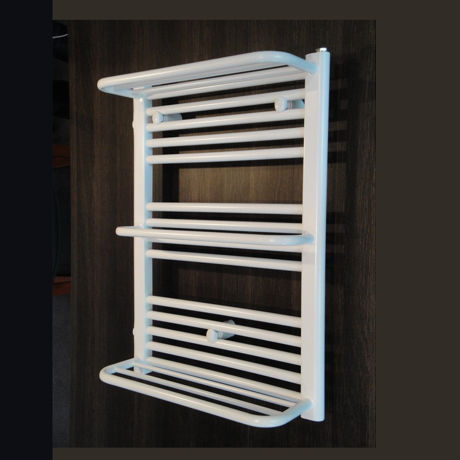 radiateur s che serviette avec tablettes 76x50cm 381w blanc comparer les prix de radiateur. Black Bedroom Furniture Sets. Home Design Ideas