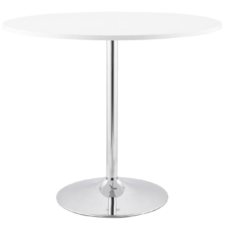 Table d ner ronde 39 kuisto 39 design blanche 90 cm for Table ronde design 90 cm