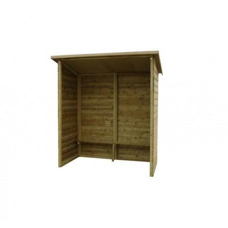 Abri voyageur en bois 2,00m sans fenêtre