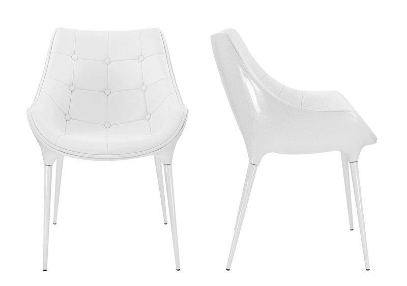 lot de 2 chaises golf birdy blanche capitonnee. Black Bedroom Furniture Sets. Home Design Ideas