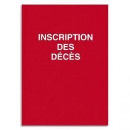 ELVE REGISTRE DE DÉCÈS 3 AVIS PAR PAGE, FOLIOTÉ DE 1 À 99, 100PAGES 24X32CM ROUGE GRIOTTE 1701