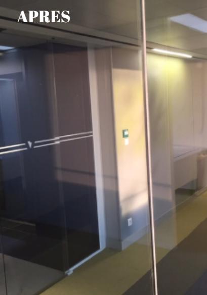 Renovation vitrage pique par projection