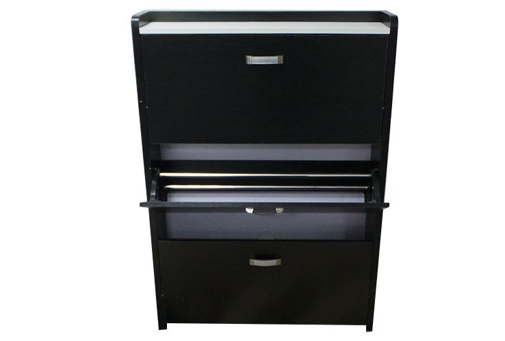 c12n meuble a chaussure noir. Black Bedroom Furniture Sets. Home Design Ideas