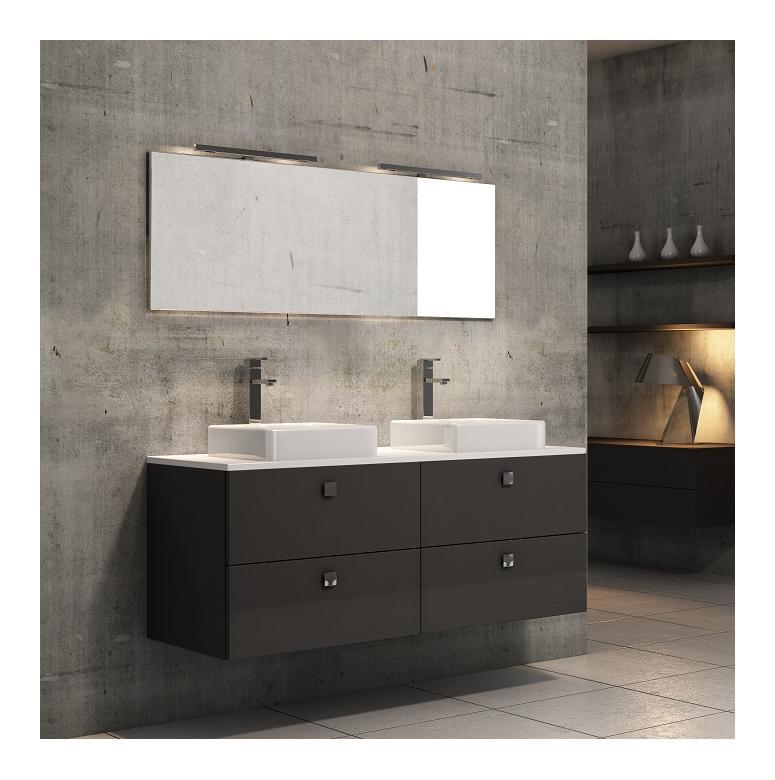 Mobiliers de salle de bain discac achat vente de mobiliers de salle de ba - Double vasque 140 cm ...