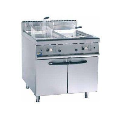 Friteuse sur coffre 1 2 bacs gaz ou electrique friteuse for Cuisine gaz ou electrique