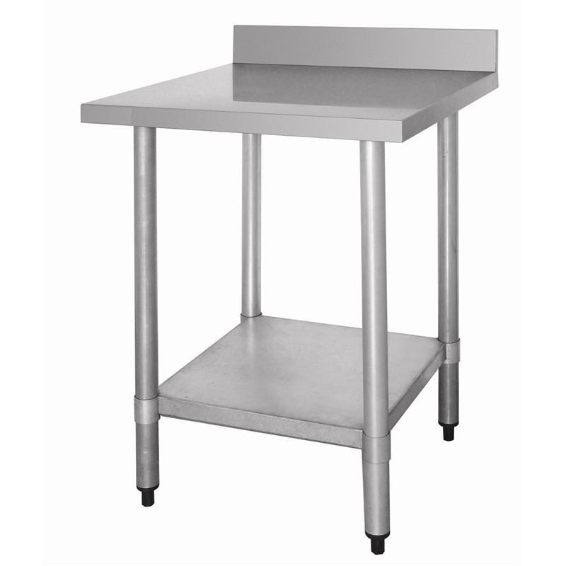 Table de travail inox professionnelle 900mmx700mmx900mm for Table cuisine professionnelle inox