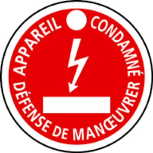 MACARON DE CONSIGNATION, PLASTIQUE, ÉQUIVALENT EDF C11, DIAM.100MM