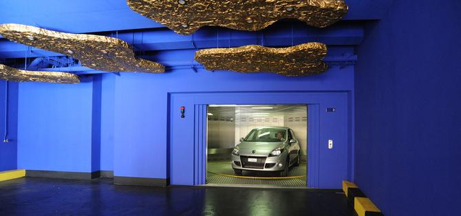 thyssenkrupp ascenseurs produits monte voitures. Black Bedroom Furniture Sets. Home Design Ideas